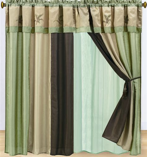 palm tree curtains drapes 15pc faux silk hawaii embroidery palm tree comforter 8pc