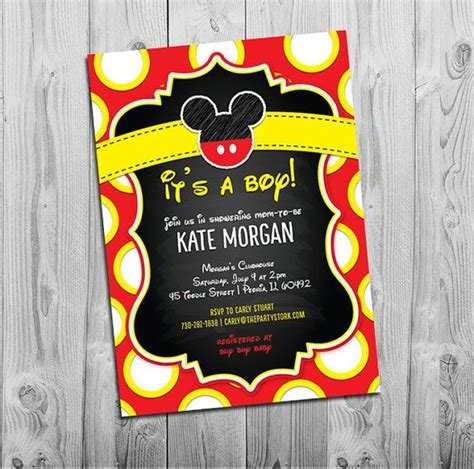 free mickey mouse baby shower invitation templates mickey mouse baby shower invitations boy baby shower