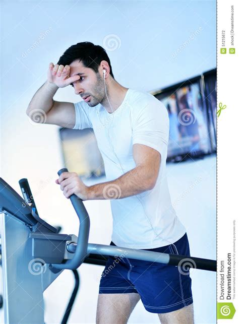 how to a to run on a treadmill running on the treadmill stock photo image 51215672