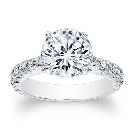 14kt white gold vintage antique engagement ring