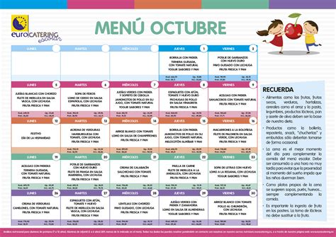 menu comedor escolar 218 comedor de octubre colegio p 218 blico juan pablo bonet