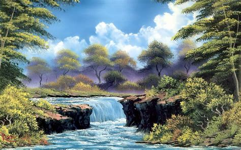 bob ross painting free bob ross wallpapers wallpaper cave