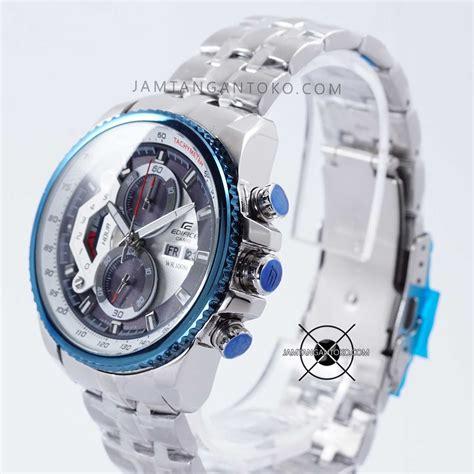 Jam Tangan Pria Merk Casio Edifice Ef 550 Chronograph Stainless Steel harga sarap jam tangan edifice ef 550d 2av silver biru