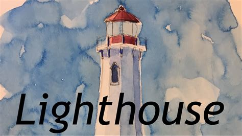 watercolor lighthouse tutorial how to paint a lighthouse in watercolor louisbourg