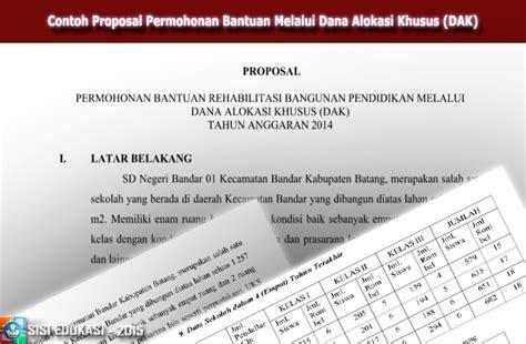 format proposal bantuan dana pendidikan contoh proposal permohonan bantuan melalui dana alokasi