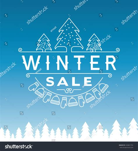 typography sles winter sale poster design template or background creative business promotional vector