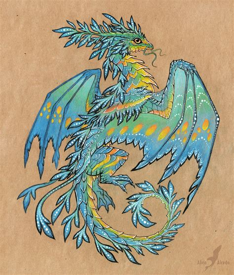fantasy dragon tattoo designs tropical blue sea design by alviaalcedo on