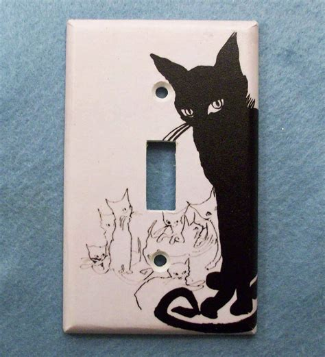 black light switch plates retro black cat light switch cover single or double