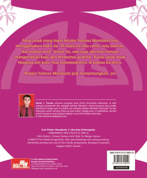 Buku Montessori Mandarin Seri 2013 buku seri pintar mandarin aku dan keluargaku oleh denis l toruan scoop indonesia