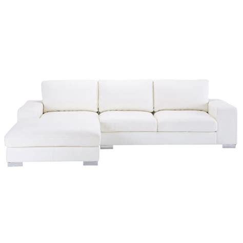 sofas de cuero blanco sof 225 esquinero de 5 plazas de cuero blanco new york