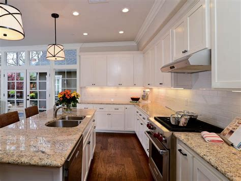 Transitional Kitchen Cabinets by Transitional Open White Kitchen Kerrie Hgtv