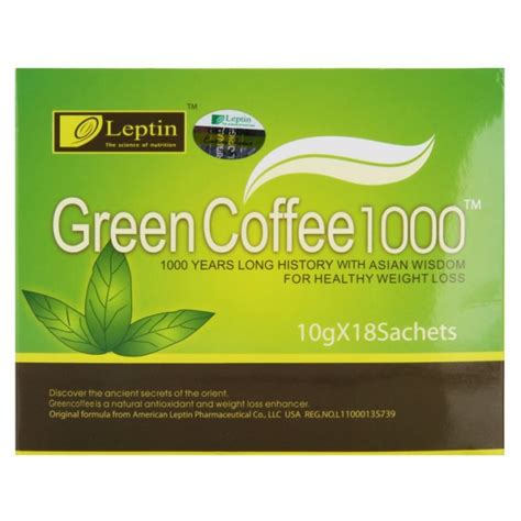 Leptin Green Coffee 1000 leptin green coffee 1000 shop nuewee organic protein