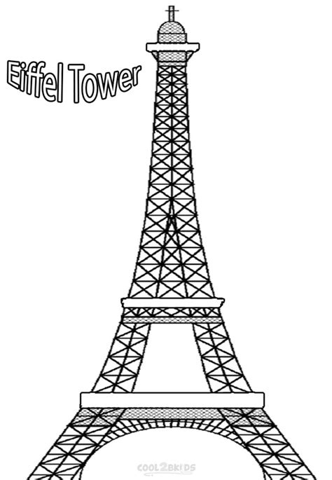 Printable Coloring Page Of Eiffel Tower | free coloring pages of city paris