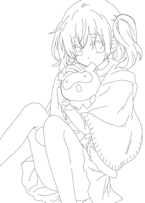 lineart anime girl by idolsakiru on deviantart