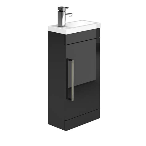 technique black cloakroom basin unit the bath house