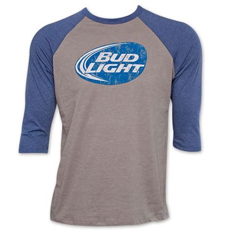 bud light baseball jersey bud light grey baseball sleeve shirt