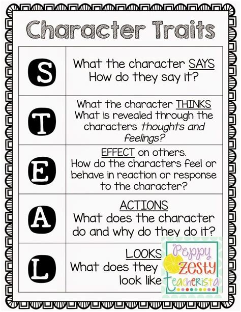 character themes meaning 25 best ideas about teaching character traits on