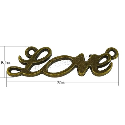 5 Letter Words Alloy letter zinc alloy connector word antique bronze color