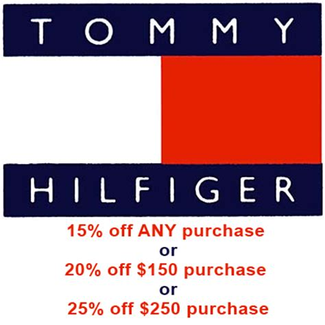 printable coupons outlet stores tommy hilfiger tommy hilfiger outlet store 15 20 25 off coupons ebay