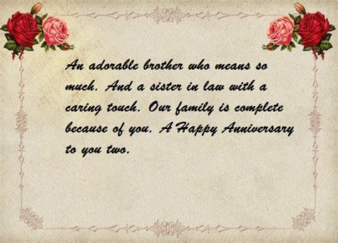 Wedding Anniversary Wishes Quotes to Brother   Best Wishes