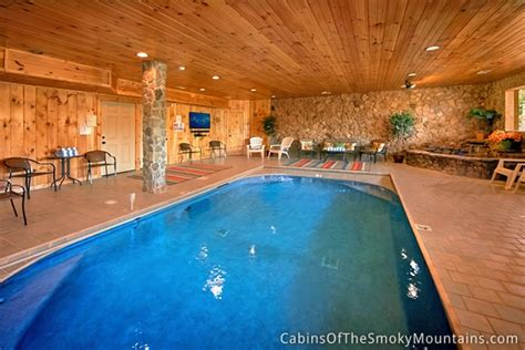 cottages with pools gatlinburg cabins with indoor swimming pools