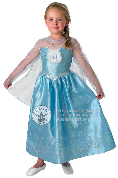 Princess Kostum Elsa Frozen deluxe frozen elsa dress fancy dress disney princess costume ebay