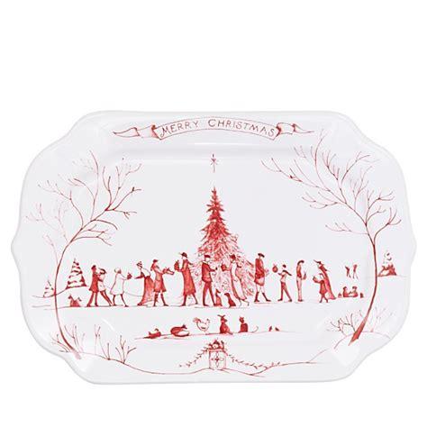 juliska christmas trees juliska country estate winter frolic ruby gift tray merry