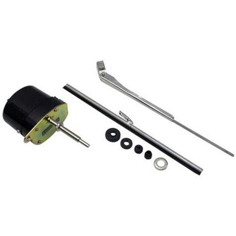 Windshield Wiper Motor Kit speedway black 12 volt electric windshield wiper motor kit