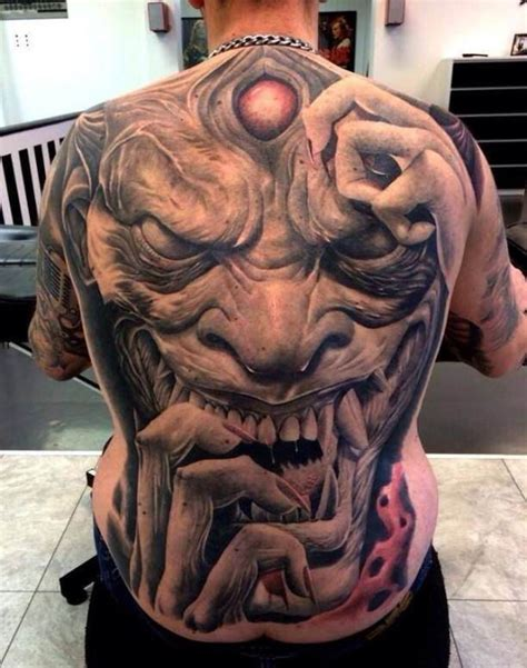 troll back tattooed tattoos horror