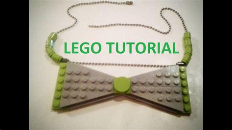 lego jewelry tutorial lego bow tie necklace tutorial youtube