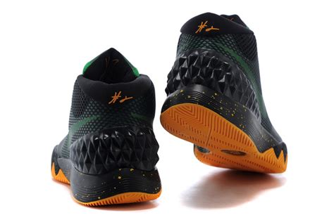 basketball shoes for sale nike kyrie irving 1 black green orange basketball shoes