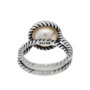 David Yurman David Yurman Sterling Silver Pearl And Cable Ring