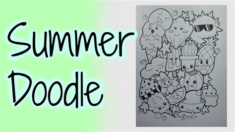 doodle summer summer doodle speed drawing kawaii characters by