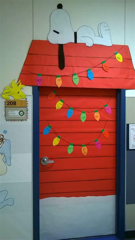 charlie brown christmas classroom door decoration love