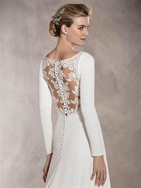 fotos vestidos de novia con manga vestidos de novia de manga larga pronovias