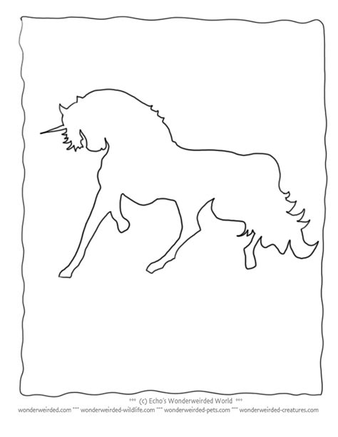 drawing of a unicorn coloring home
