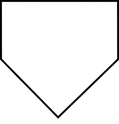 best photos of baseball home plate dimensions template