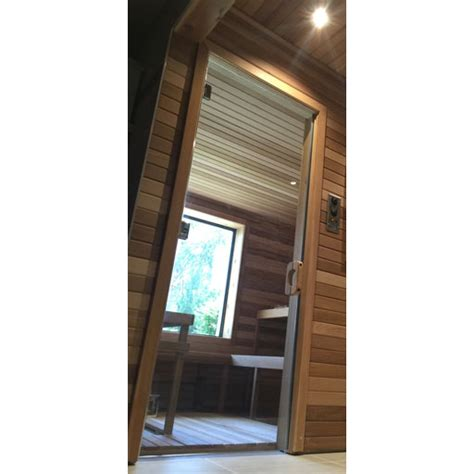 sauna glass doors all glass sauna and steam door