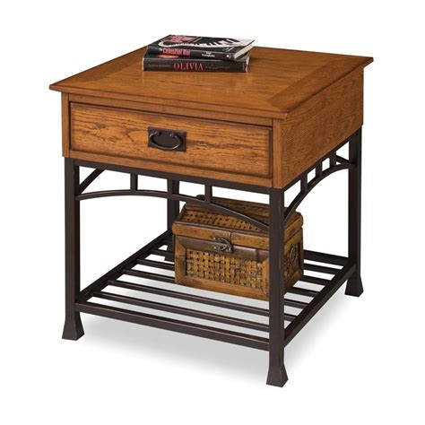 oak accent tables shop home styles modern craftsman oak poplar square end
