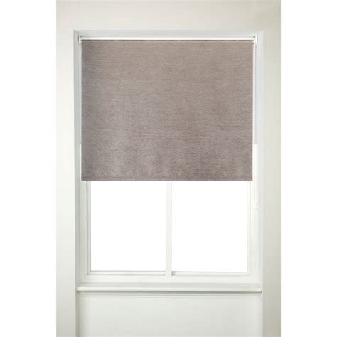 Thermal Blinds Chenille Thermal Roller Blind 90cm Window Blinds B M