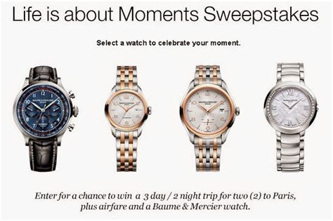 Travel And Leisure Sweepstakes - travel leisure baume et mercier life is about moments sweepstakes sweepstakesbible