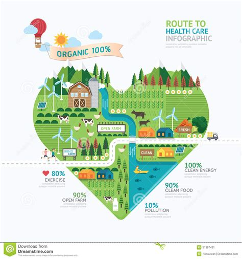 infographic book layout infographic health care heart shape template design route