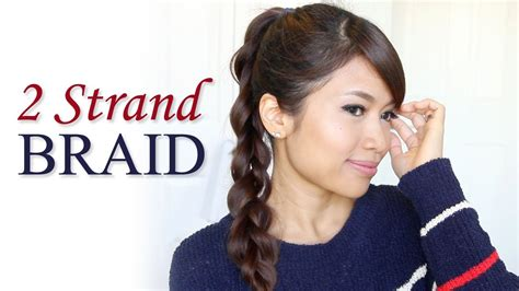 how to 2 strand braid ponytail hair tutorial hairstyles