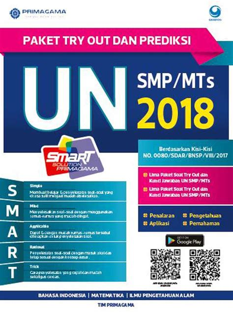 Buku Un Ekspress Smp 2018 Harga Paket Murah Erlangga primagama paket try out dan prediksi un smp mts 2018 bukubukularis toko buku