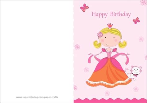 Happy Birthday Princess Card Template by Happy Birthday Card With Princess Free Printable