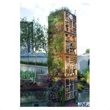 Vertical Tower Garden Garden Tower Edibles And Recycled Materials For Insect