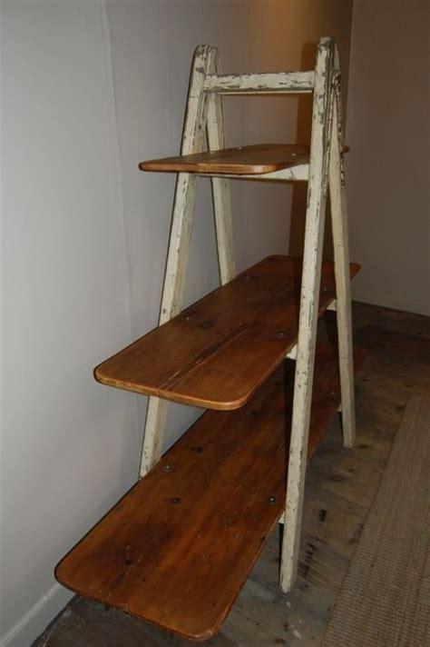 antique industrial ladder shelf bookshelf 56527