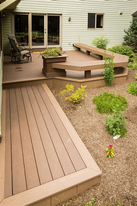 Composite Decking Brands deck with built in benches in elizabethtown pa stump s