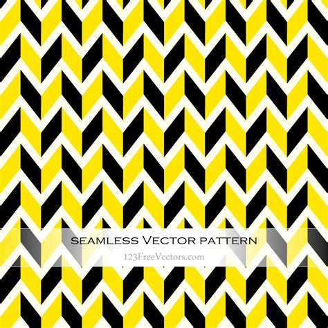 pattern yellow black yellow and black chevron pattern background 123freevectors