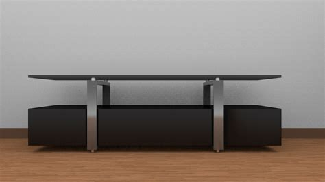 tv table 3d model ready obj fbx blend dae